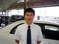Shirahata Service manager at Shari shop, Toyota Carolla Kitami