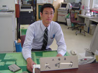 Factory manager Mr.Omachi at Shari shop, Kitami Toyopet