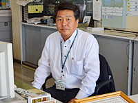 Factory manager Mr. Sakuta at Bihoro Shop, Kitami Toyopet