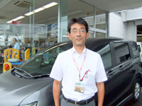 Shop manager Mr. Takahashi at Haramachi Shop, Honda Cars Higashi-Agatsuma