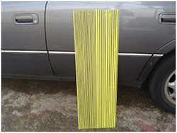 The check method of the dent before repair